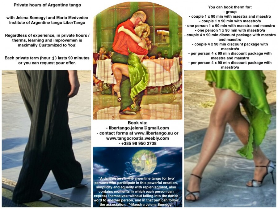 Seminar contact surface of the feet and legs in tango argent