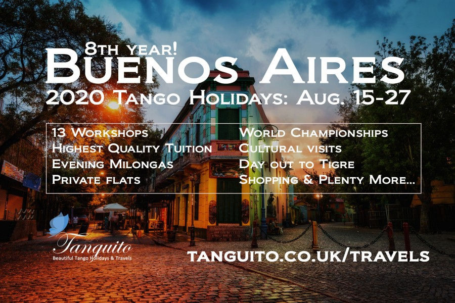 Buenos Aires Aug. Tango Holidays and Championships