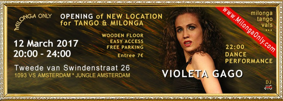 Grand Opening New Place for milonga and tango in Amsterdam