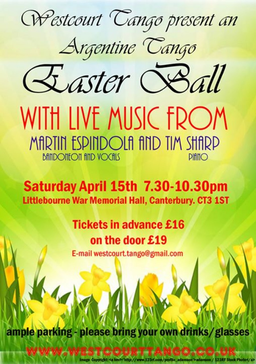 Argentine Tango Easter Ball with live music g