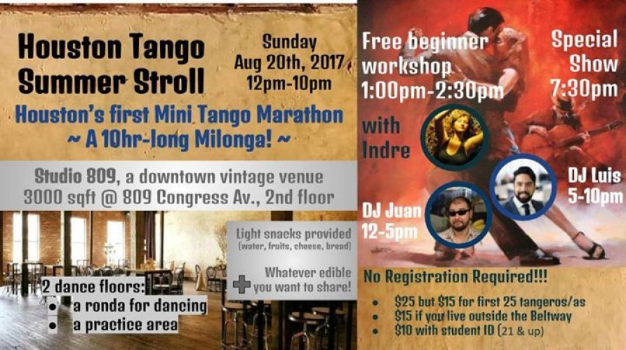 Houston Summer Tango Stroll