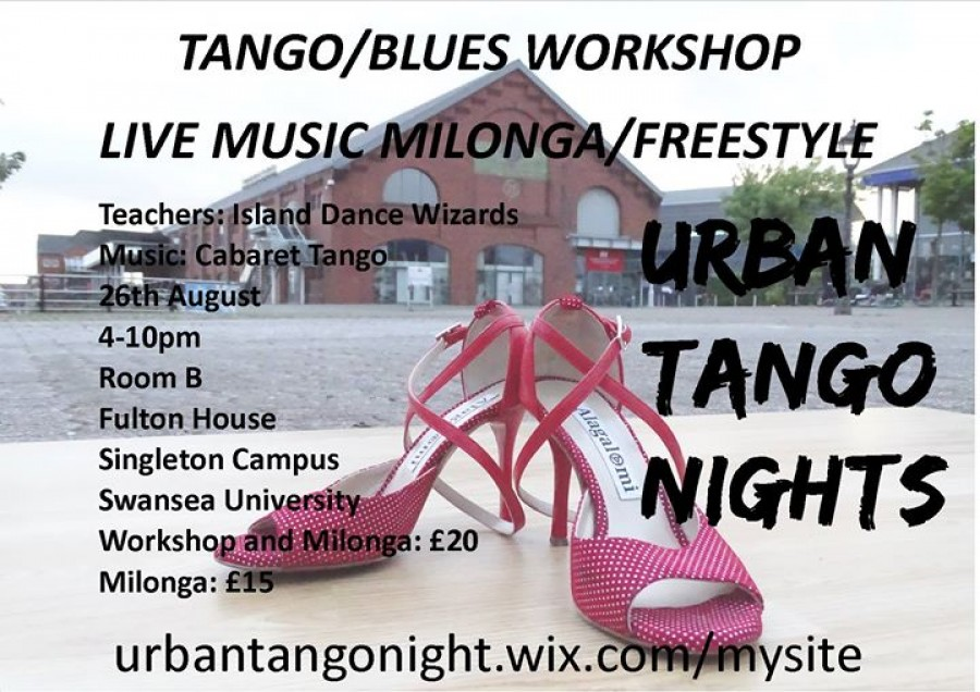 Tango Blues Fusion Workshop and Live Music Milonga Freestyle
