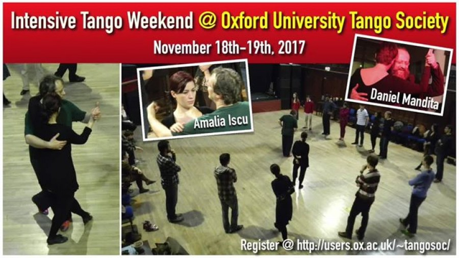 Intensive tango weekend at Oxford University Society