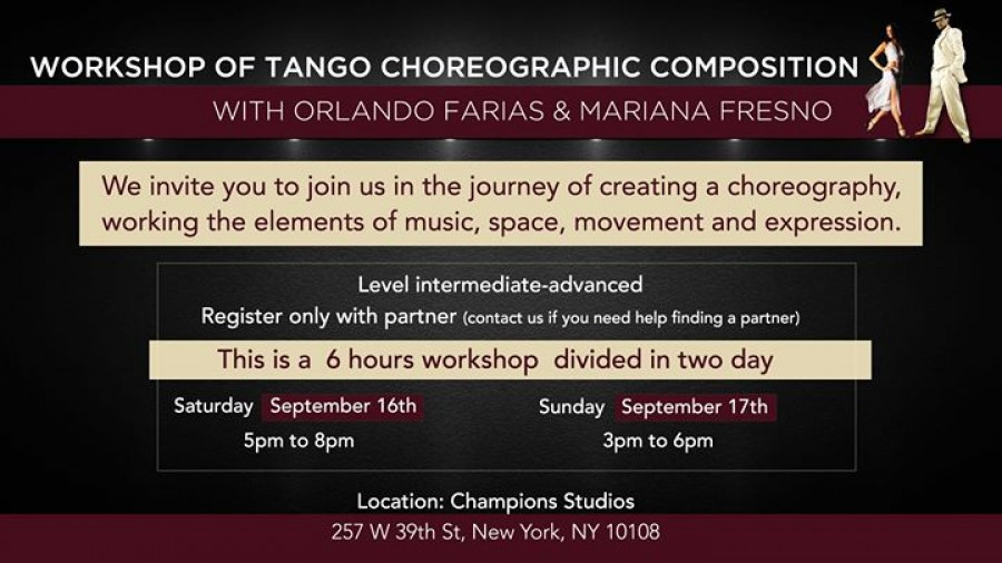 TANGO Choreographic Composition Workshop