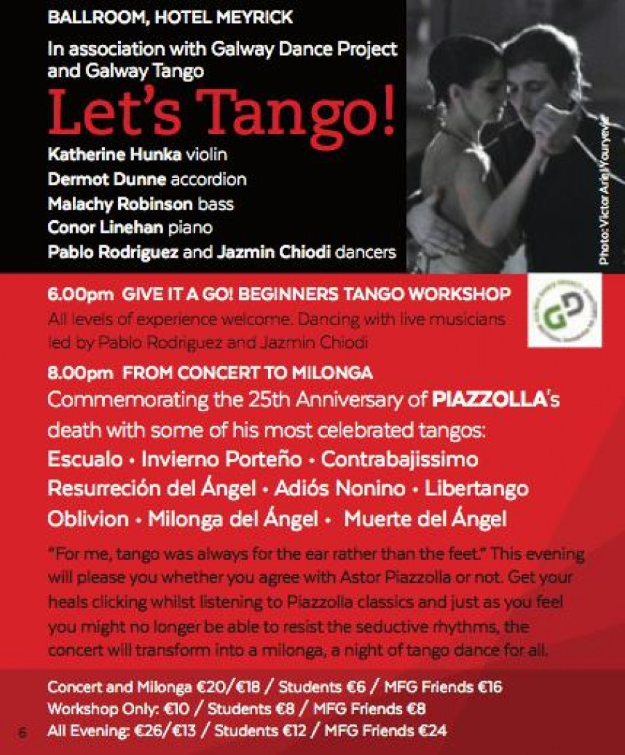 Let s Tango Workshop Concert Dance Milonga