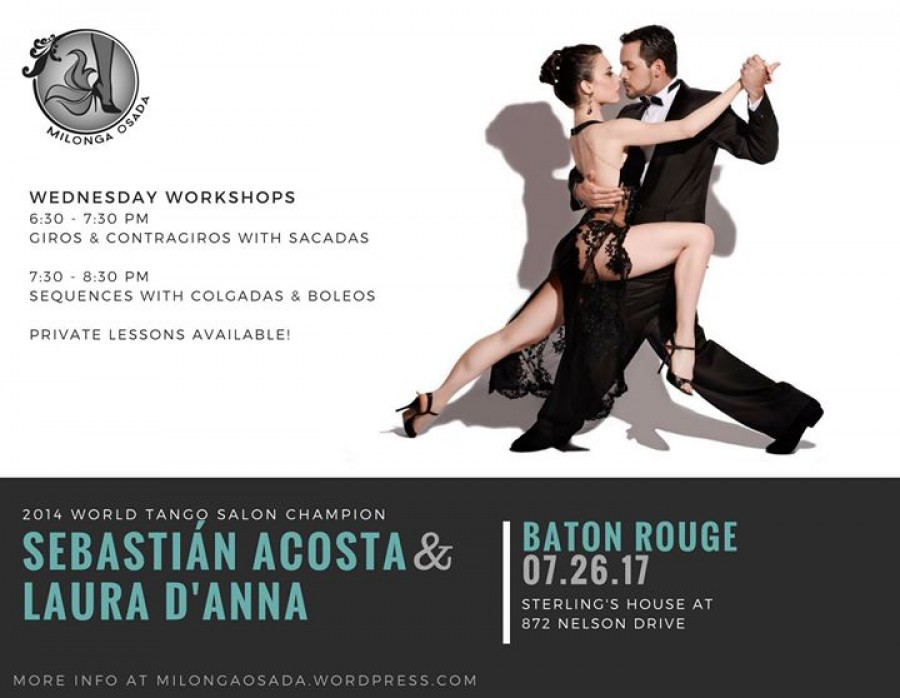 Workshops with World Tango Champion Sebastian and Laura