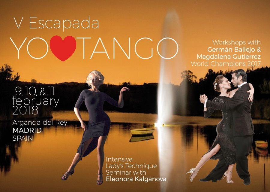 5º ENCUENTRO YO AMO TANGO (EXCLUSIVE EVENT) ONLY 20 KM FROM MADRID AIRPORT