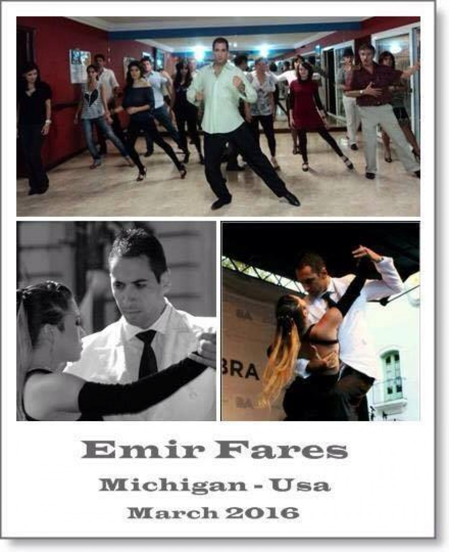 Emir Fares Comes To Michigan Argentine Tango Workshops and P