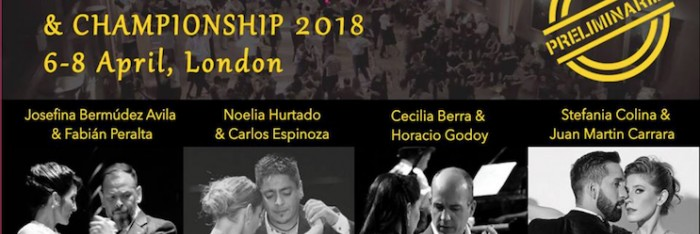 5th UK Tango Festival and Championship 2018 London