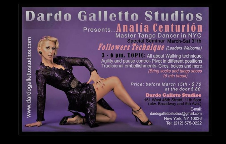 Analia Centurion Special Tango Seminar in NYC