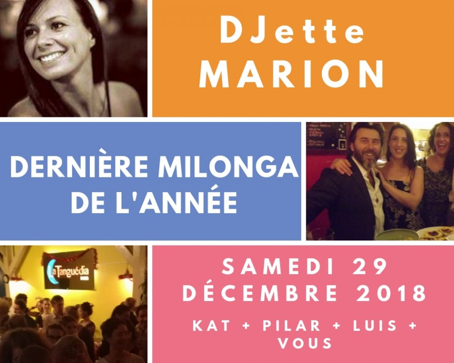 Last milonga of the year with DJ Marion
