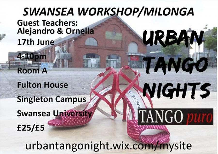 Tango Workshop Milonga with Alejandro and Ornella in Swansea