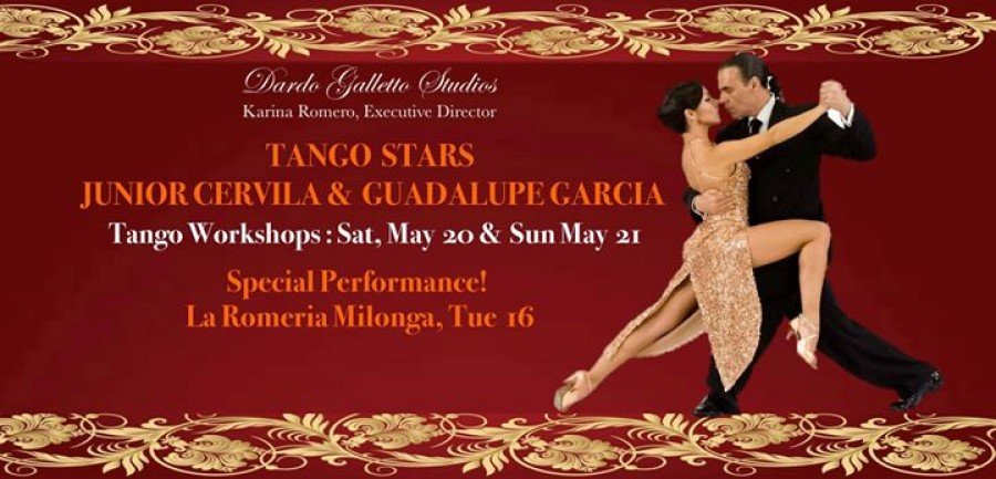 Junior Cervila Guadalupe Garcia Tango Workshops in NYC