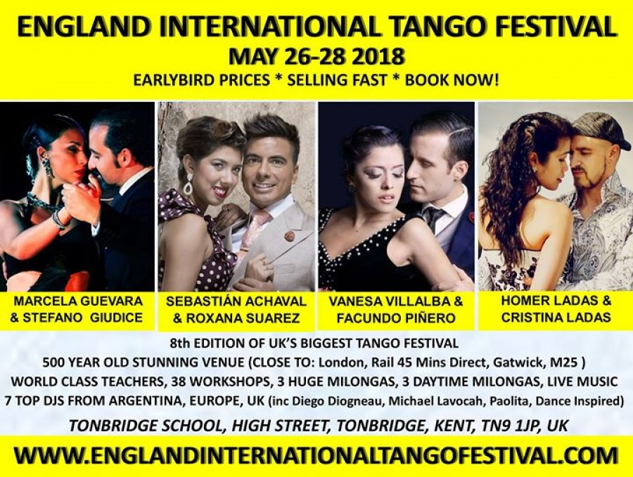 England International Tango Festival May 26 28 2018