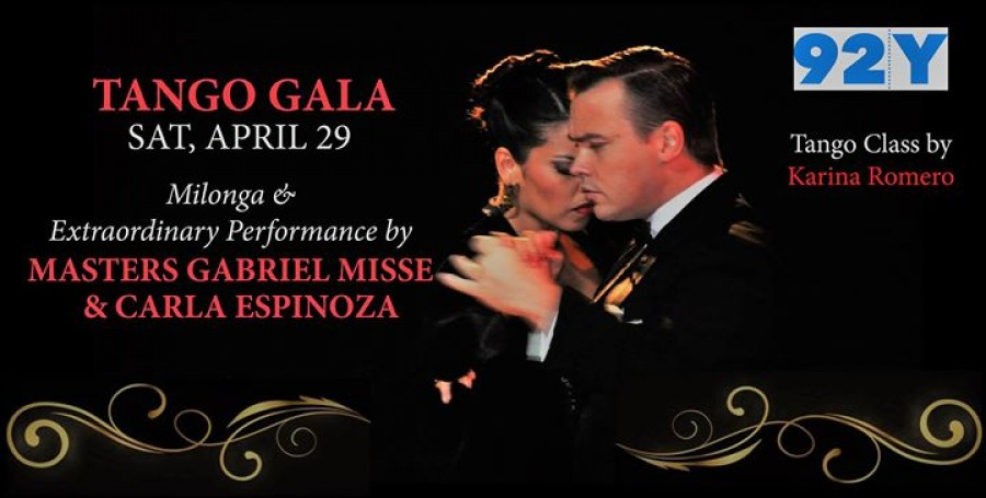 Tango Gala at 92Y with Gabriel Misse Carla Espinoza