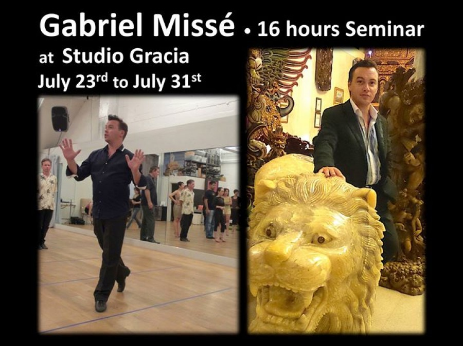 Gabriel Misse 16 Hours Seminar at Studio Gracia