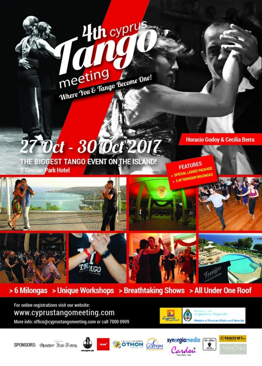 4th Cyprus Tango Meeting 27-30 Oct. 2017 with Horacio Godoy