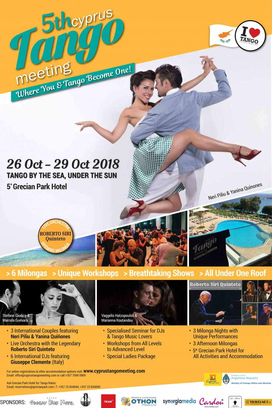 5th Cyprus Tango Meeting  26th until 29th October 2018