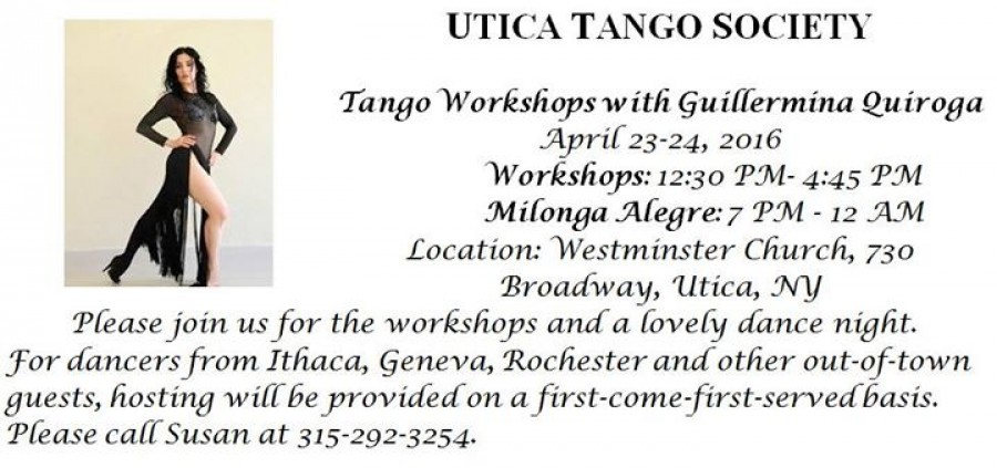 Tango Workshops with Guillermina Quiroga