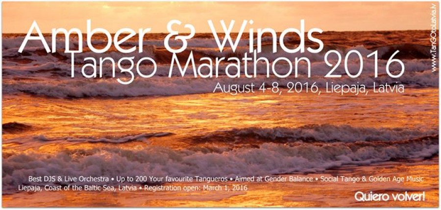 AMBER WINDS TANGO MARATHON 2016 Aug 4-8 2016 Liepaja Latvia