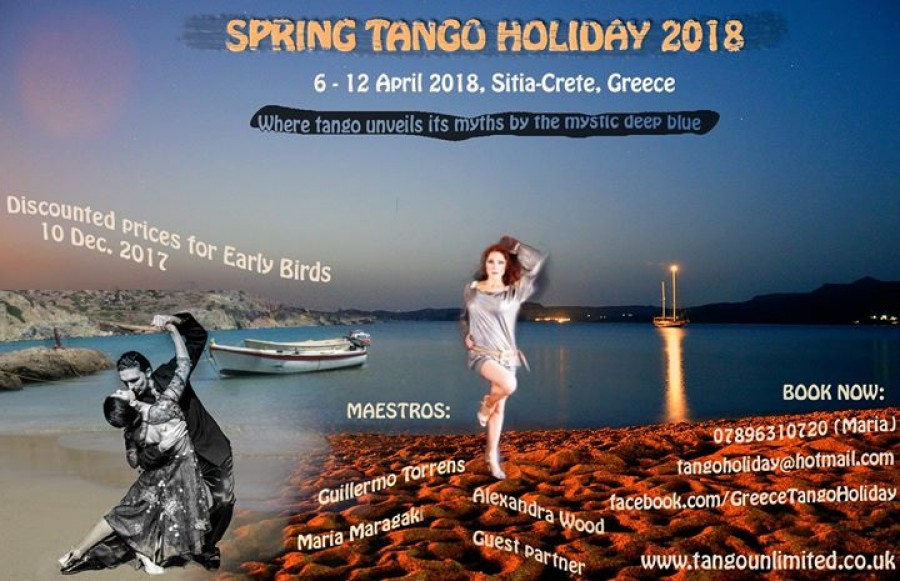 Spring tango holiday in Crete Sitia Greece