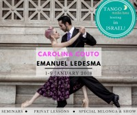 Milonga special and seminars with Carolina and Emanuel