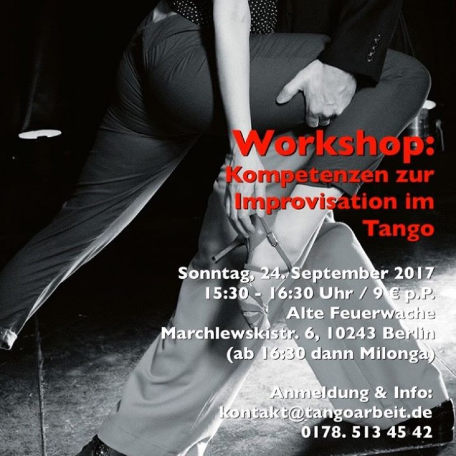 Workshop Kompetenzen zur Improvisation im Tango