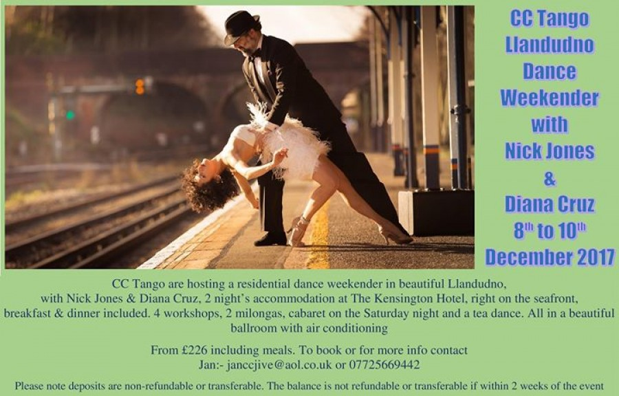 CC Tango Llandudno Weekender with Nick Jones Diana Cruz